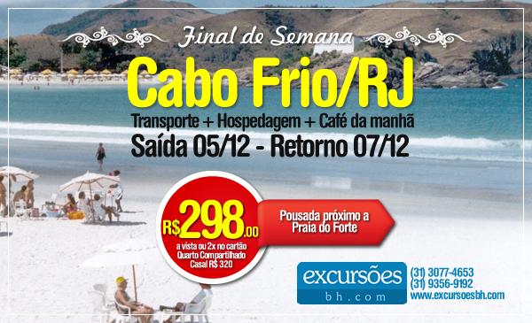 Final de semana – Cabo Frio/RJ